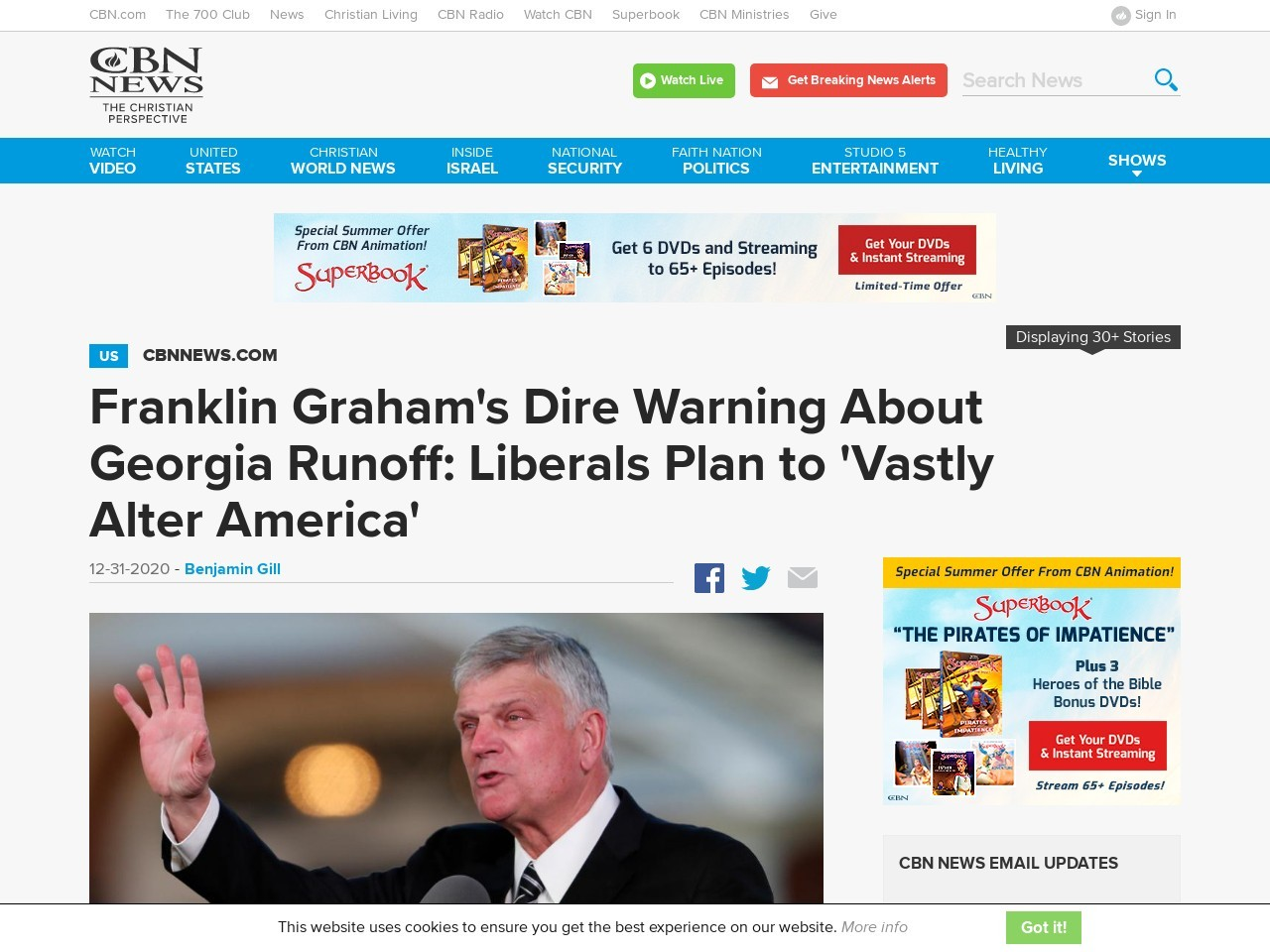 Franklin Graham's Dire Warning About Georgia Runoff: Liberals Plan to 'Vastly Alter America'