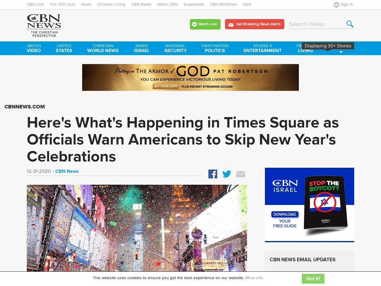 Here's What's Happening in Times Square as Officials Warn Americans to Skip New Year's Celebrations