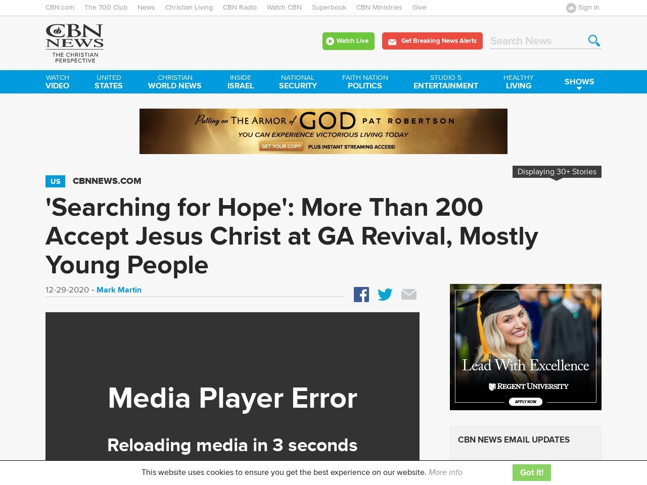 'Searching for Hope': More Than 200 Accept Jesus Christ at GA Revival, Mostly Young People