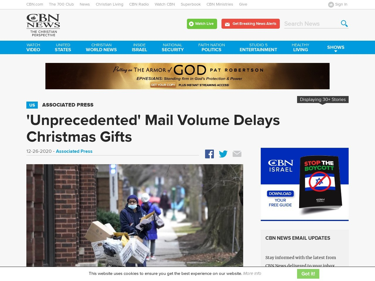 'Unprecedented' Mail Volume Delays Christmas Gifts
