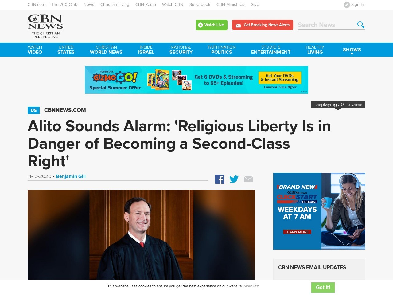 Alito Sounds Alarm: 'Religious Liberty Is in Danger of Becoming a Second-Class Right'