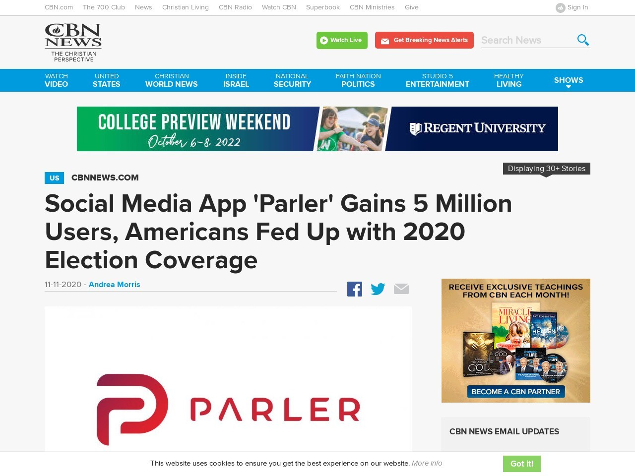 Social Media App 'Parler' Gains 5 Million Users, Americans Fed Up with 2020 Election Coverage