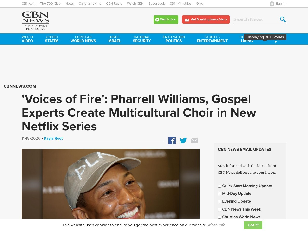 'Voices of Fire': Pharrell Williams, Gospel Experts Create Multicultural Choir in New Netflix Series