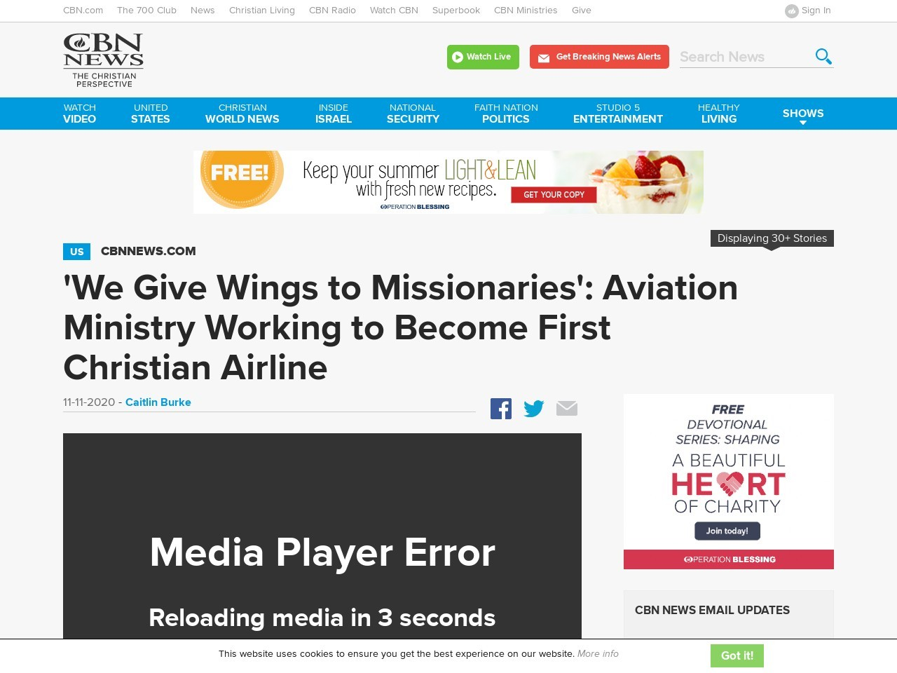 'We Give Wings to Missionaries': Aviation Ministry Working to Become First Christian Airline