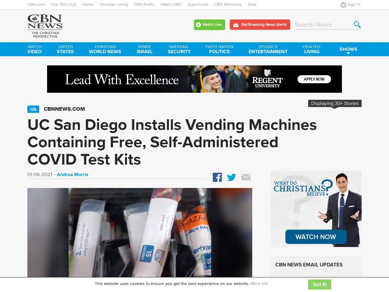 UC San Diego Installs Vending Machines Containing Free, Self-Administered COVID Test Kits