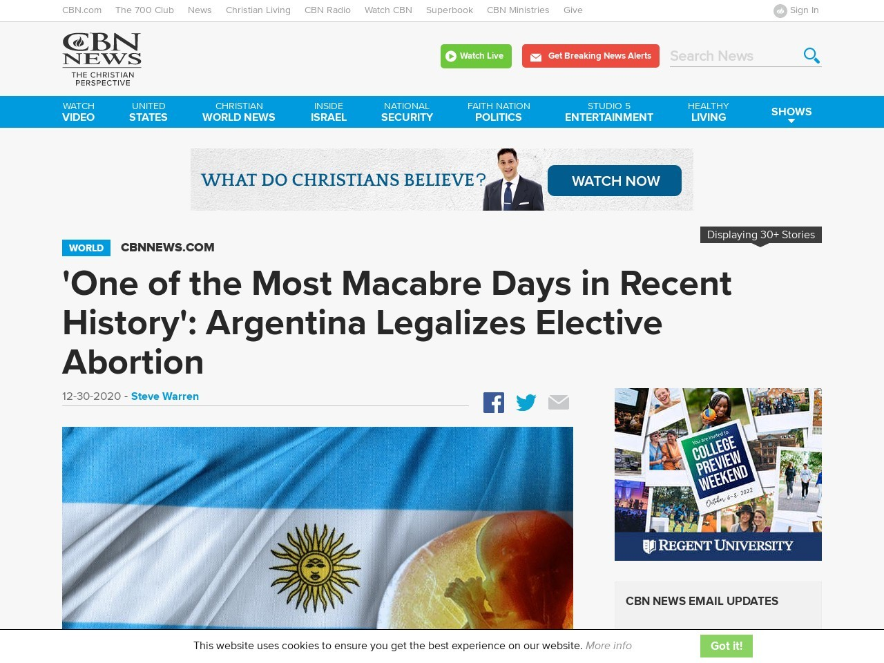 'One of the Most Macabre Days in Recent History': Argentina Legalizes Elective Abortion