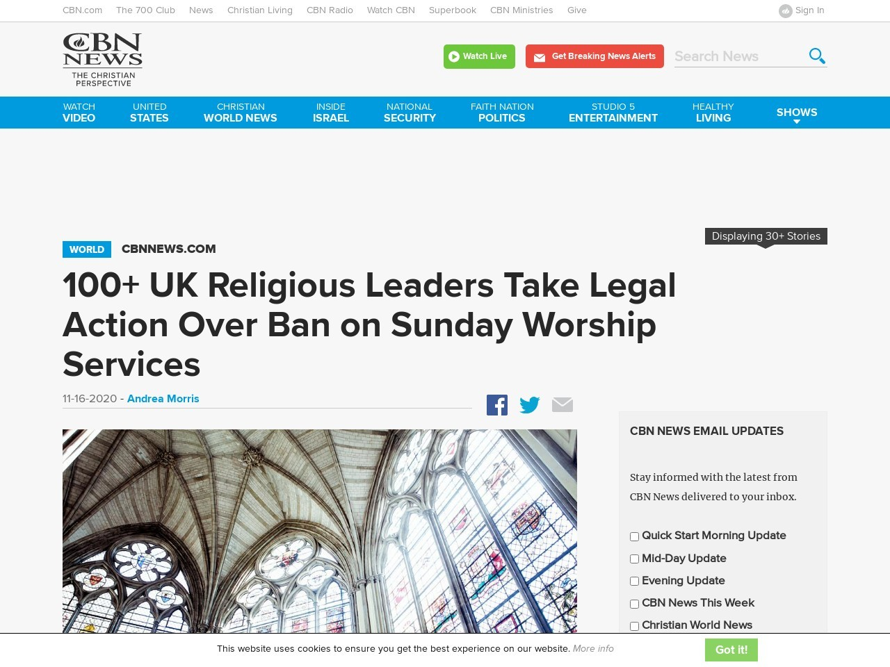 100+ UK Religious Leaders Take Legal Action Over Ban on Sunday Worship Services