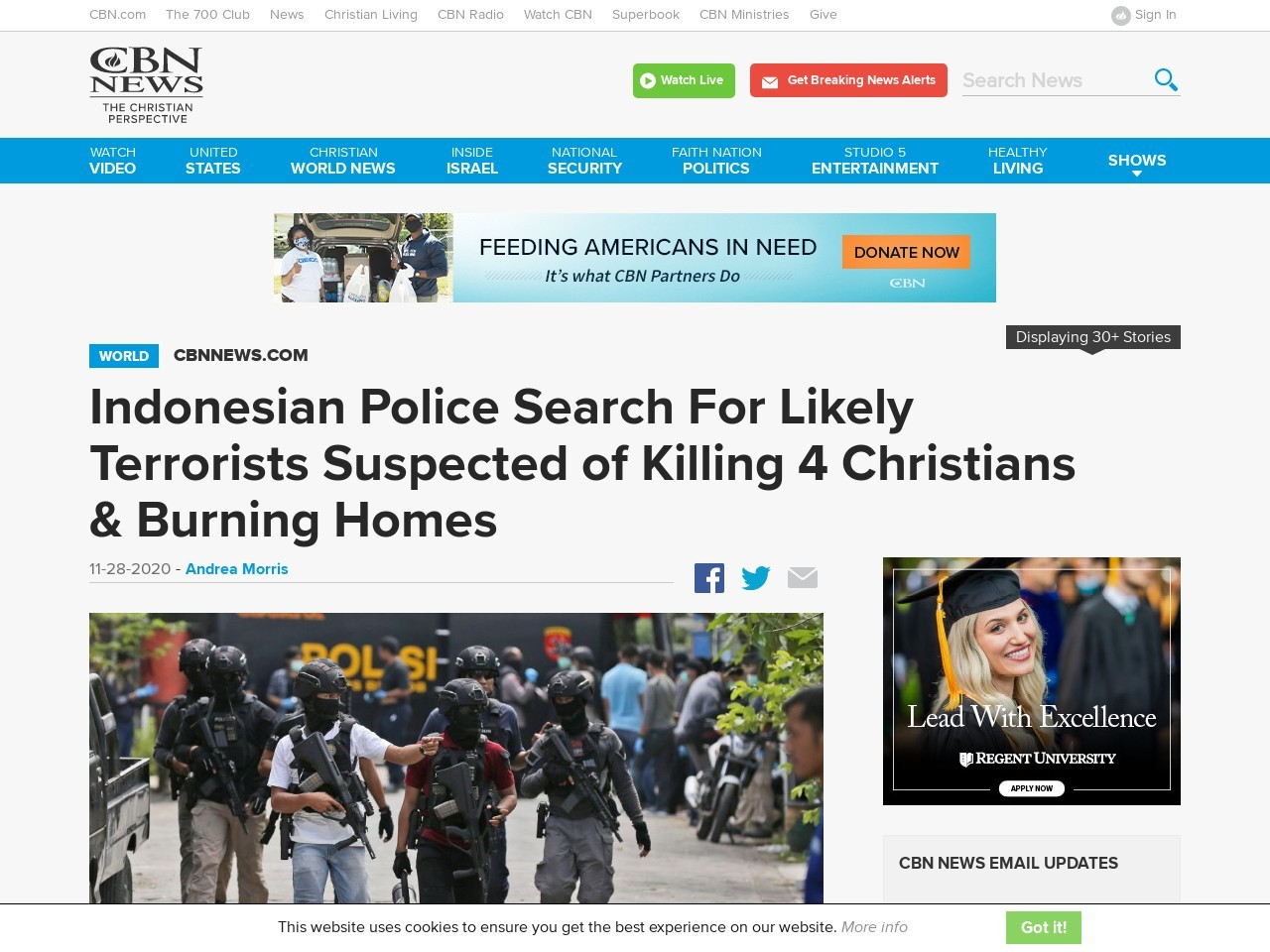 Indonesian Police Search For Likely Terrorists Suspected of Killing 4 Christians & Burning Homes