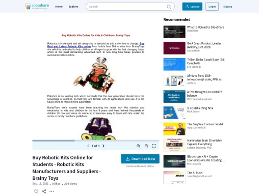 Buy Robotic Kits Online for kids & Students – Robotic Kits Manufacturers and Suppliers – Brainy Toys