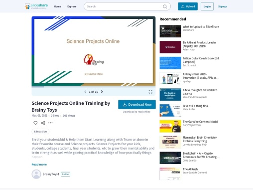 Science Projects Training for Kids Children Students – Online Courses & Classes by Brainy Toys