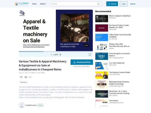 Textile & Apparel Machinery Buyers Sellers Suppliers – Garments Clothing Machinery Equipments