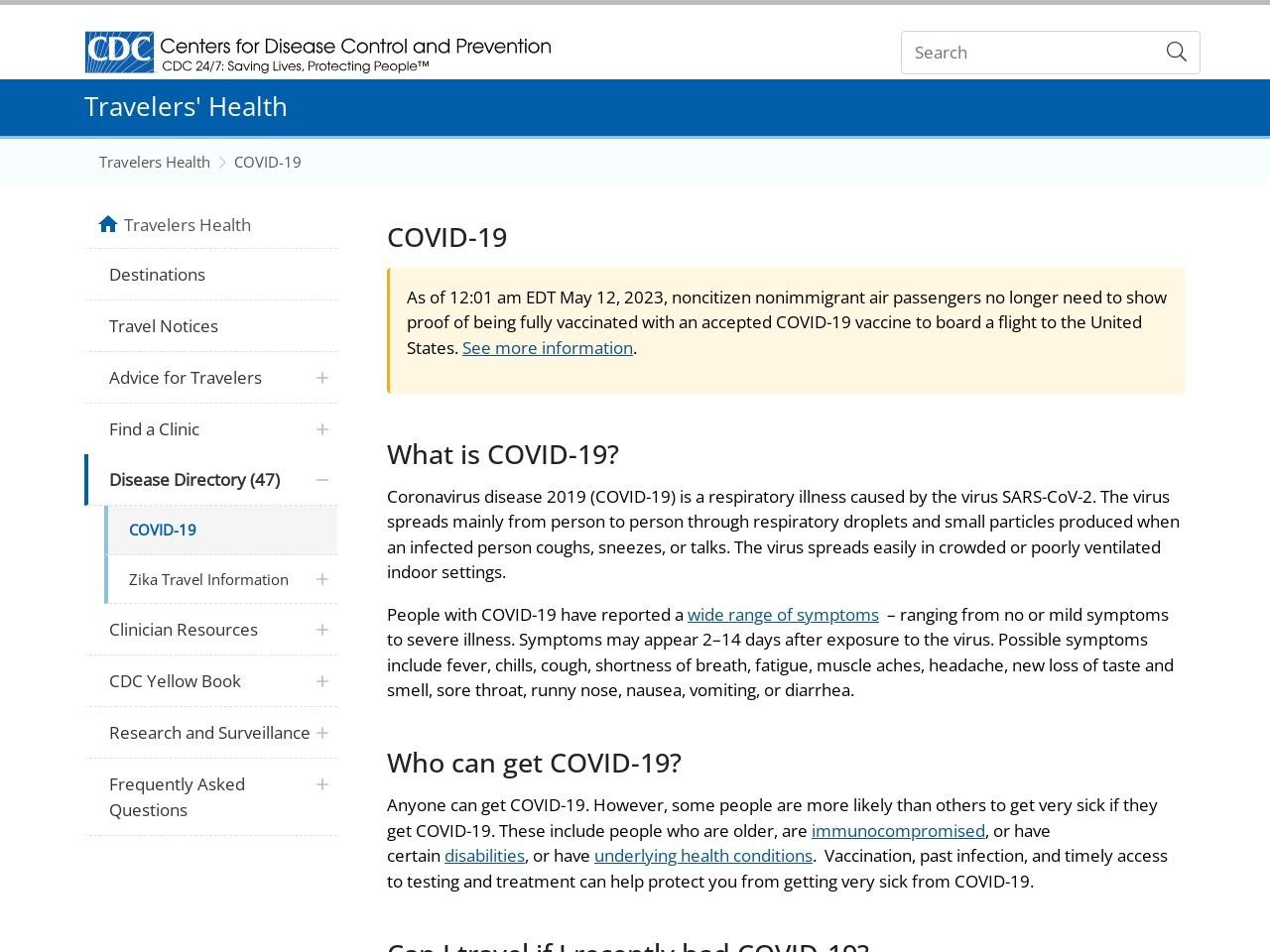 Warning – COVID-19 in Russia