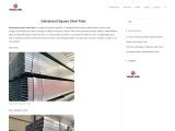 Galvanized Square Steel Tube | GI Square Pipe