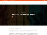 Ethics in Coaching for a Coaches