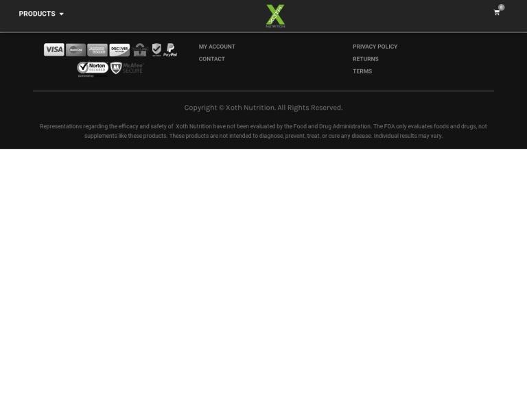 Xoth Nutrition screenshot