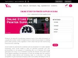 Online Store For Printer Supplies In Dubai