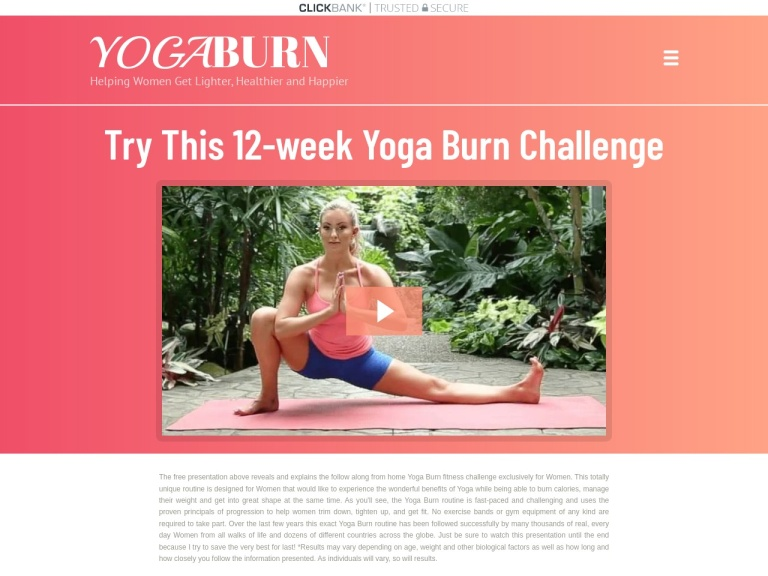 Yoga Burn screenshot