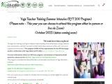 Register Yoga Teacher Training Summer Intensive (RYT 200 Program)