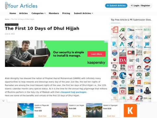 The First 10 Days of Dhul Hijjah