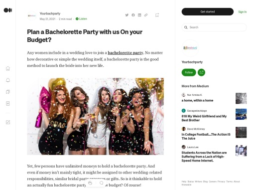 Plan a Bachelorette Party with us On your Budget?