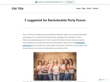 5 suggested for Bachelorette Party Favors