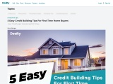 5 Easy Credit Building Tips For First Time Home Buyers