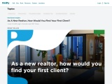 As A New Realtor, How Would You Find Your First Client?