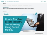 How Is The Real Estate Industry Transforming Using Social Media?