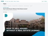 How To Sell Houses Without A Real Estate License?