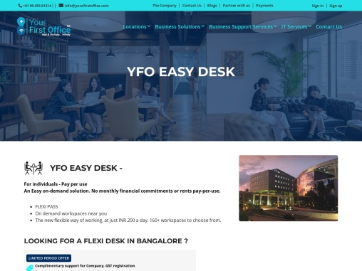Easy Desk   Pay Per Use   Easy On Demand Solution   Yourfirstoffice