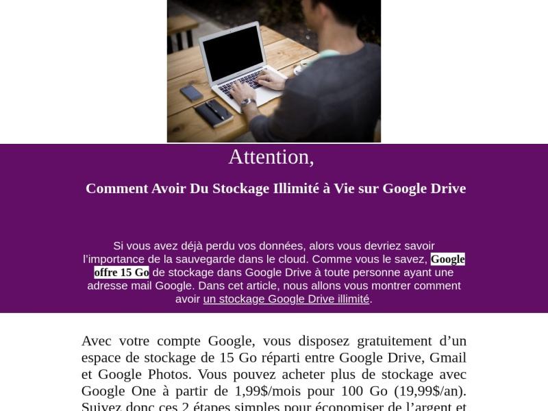 espace google drive illimite