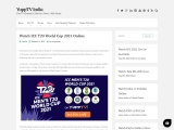 Watch ICC T20 World Cup 2021 Online