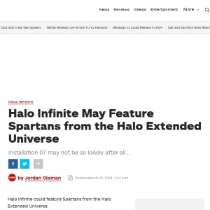 Halo Infinite May Feature Spartans from the Halo Extended Universe