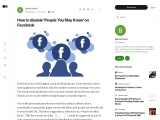 How to disable 'People You May Know' on Facebook