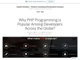 Home Blog-Why PHP Programming is Popular Among Developers Across the Globe?