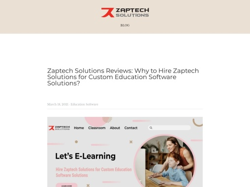 Strikingly- Why to Hire Zaptech Solutions for Education Software Development?