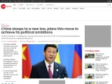 China stoops to a new low, plans this move to achieve its political ambitions