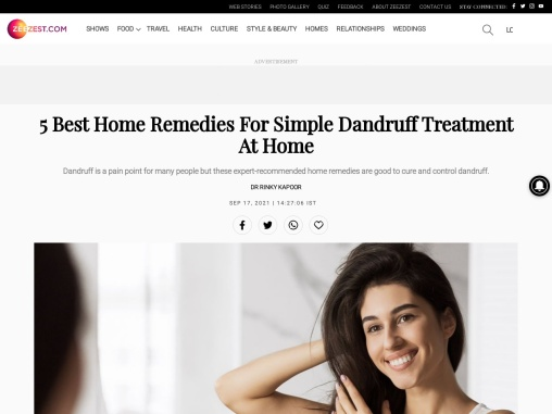 5 Best Home Remedies For Simple Dandruff Treatment At Home