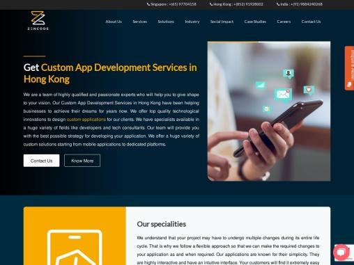 Custom App Development Services in Hong Kong   Zencode