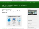 Plastic Waste Management Market 2021