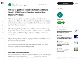 Where to get Non-Toxic Body wash and Handwash? WBM Care in Pakistan has the best natural products