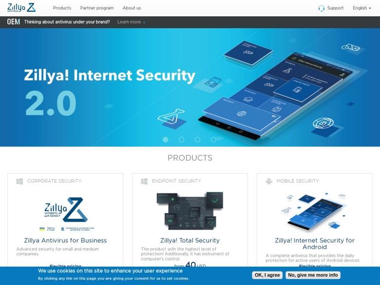 ALLIT Service LLC (Zillya AV) screenshot