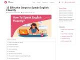 15 Effective Steps to Speak English Fluently – Zing Languages