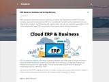 ERP Business Solution and Its Significance