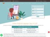 Book Online English Language Class In UAE