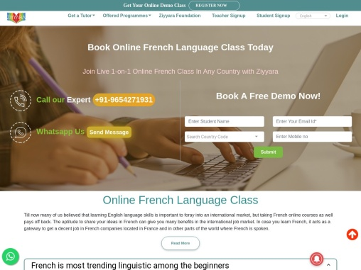Book Online French Language Class Today