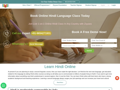 Book Online Hindi Language Class Today