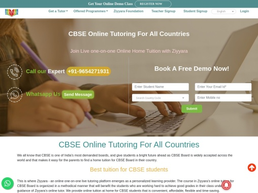 Now Get Live CBSE Tuition in All Countries