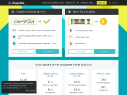 Earn money with captcha solving screenshot