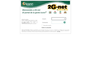 Bienvenido a 2G-net GO El portal de la gente iconn® Usuario ...